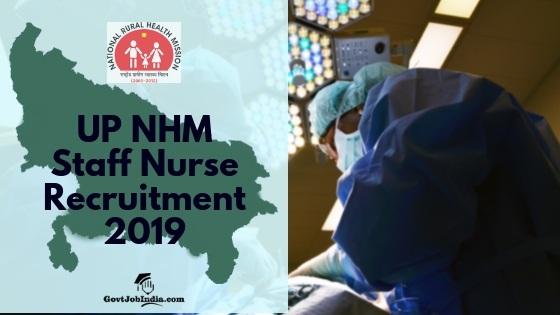 UP NHM staff Nurse recruitment 2018-19