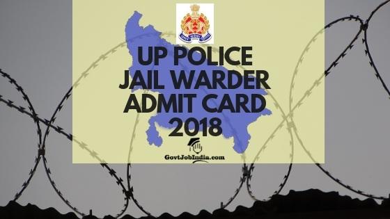 UP Police Jail Warder Hall ticket