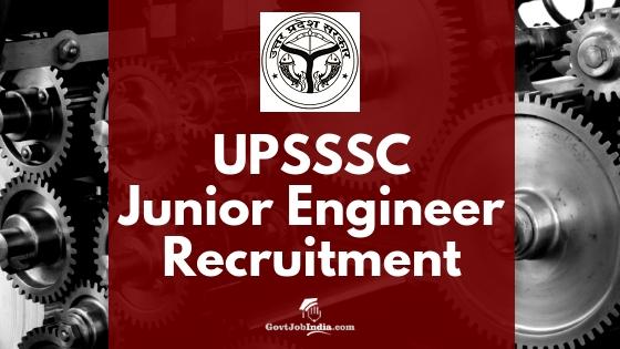 Uttar Pradesh Subordinate Services Selection Commission (UPSSSC) Recruitment 2018 - junior engineer