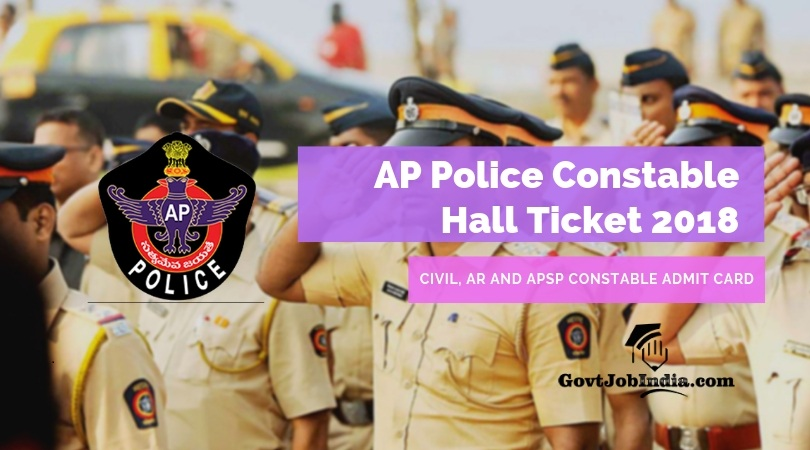 AP Police Constable Hall ticket Download 2018