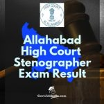 Alahabad high Court Steno grade 3 Result and Cut off marks