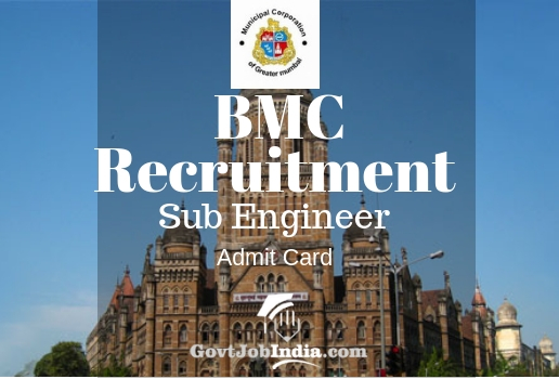 BMC Sub Engineer Admit Card