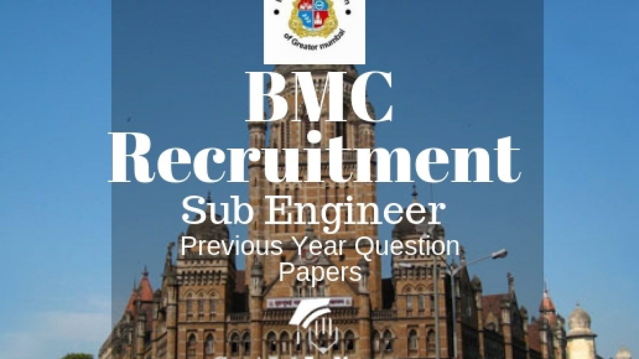 BMC Sub Engineer Previous Year Question Paper PDF- Download