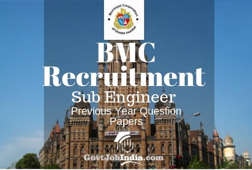 BMC Sub Engineer Previous Year Papers