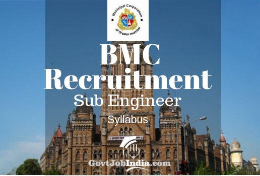 BMC Sub Engineer Recruitment Syllabus and Exam Paper Pattern