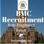 MCGM Sub Engineer Result