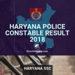 HSSC Police constable Result and Cut Off marks 2018