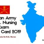 MNS Nursing Exam 2019 Admit card