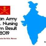 Indian Army B.Sc. nursing Exam Result and Cut off marks 2019