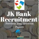 JK Bank Previous year question papers