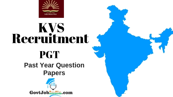 KVS PGT Previous Year Question Papers