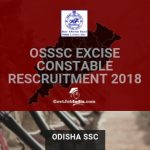Odisha SSC Excise Constable Recruitment 201