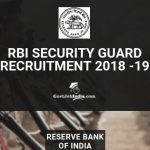 rBI Security Guard Recruitment Notification