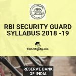 RBI Security Guard Exam Syllabus and Paper Pattern