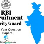 RBI Security Guard Previous year papers
