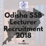 SSB Odisha Lecturer Recruitment Notification