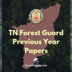 TNFUSRC Forest Guard Old Question papers