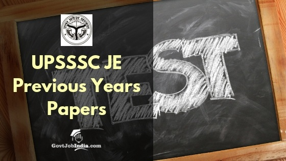 UPSSSC Junior Engineer old Question papers