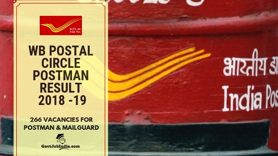 West bengal post office Exam Admit card 2018