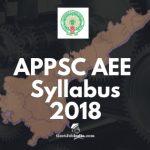 APPSC AEE Syllabus PDF Download