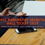 APPSC Panchayat Secretary Hall ticket 2019
