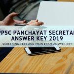 APPSC PANCHAYAT SECRETARY Answer Key 2019 Screening test and main exam