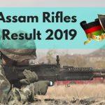 Assam Rifles Written Exam result 2018-19
