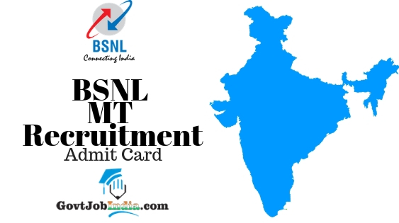 BSNL MT Recruitment Admit Card