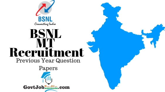 BSNL MT Recruitment Model Question Papers