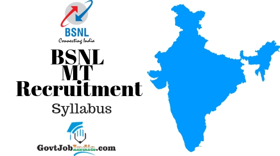 BSNL MT Recruitment Syllabus
