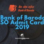 Bank of Baroda Call letter 2019
