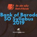 BoB SO Syllabus PDF 2018