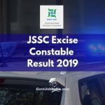 JSSC Excise Constable Written Examination Result 2019
