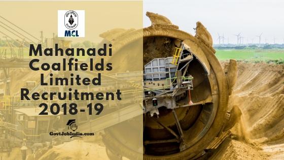 MCL Odisha Recruitment 2018-19