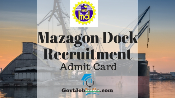 Mazagon Dock MDL Admit Card