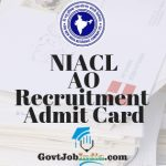 NIACL AO Recruitment Admit Card
