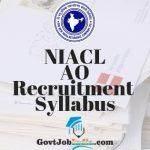 NIACL AO Syllabus
