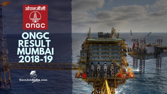 ONGC Exam Resut and Cut Off marks