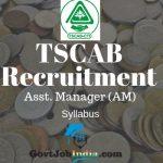 TSCAB Recruitment AM Syllabus