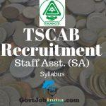 TSCAB Recruitment SA Syllabus