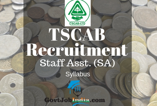 TSCAB Recruitment SA Syllabus