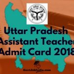 UP BEB Assistant Teacher Hall ticket 2018