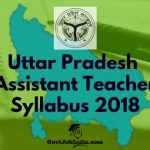 UP Assistant Teacher Exam Syllabus 2018