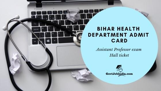 Bihar Assistant professor Admit Card 2019