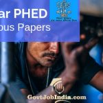 Bihar PHED Model Question Papers