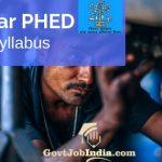 Bihar PHED Syllabus