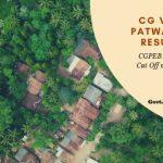CGPEB Patwari Cut Off marks and Merit list