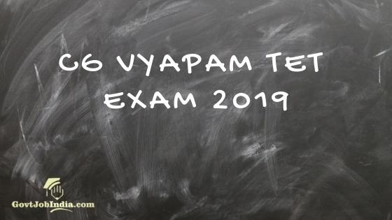 CG TET Exam 2019 - Apply Online Now