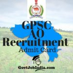 GPSC Admit Card 2019