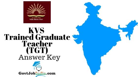 KVS TGT Answer Key